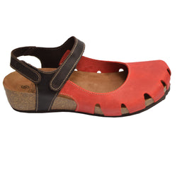 Emanuela Clog Red/Brown