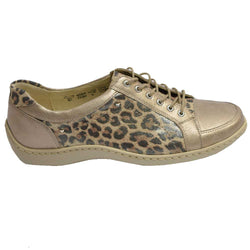 Janina/Henni Light Gold Leopard Print