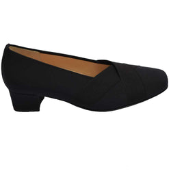 Evelyn Pump Black Microfiber