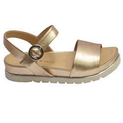 Burgos Buckle Sandal Light Gold