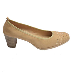 Studded NB Pump Beige