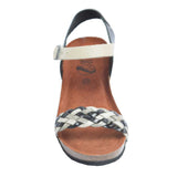 Cork Wedge Woven Sandal Black