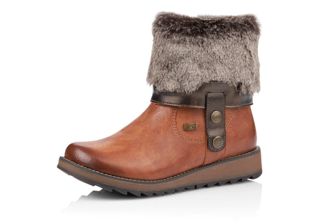 Fold Collar Tex Boot Tan