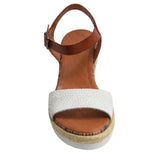 Espadrille Sandal Brown/White