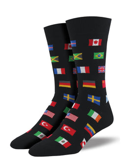 Flags Socks Black