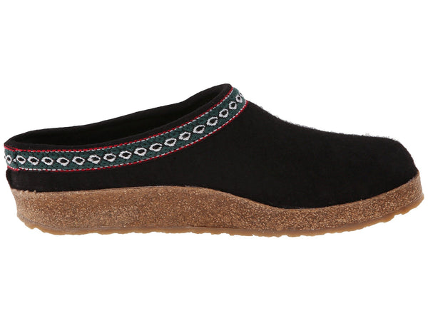 Wool Felt Clog Black