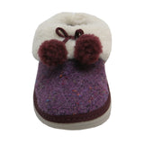 Loaff Pom Slipper Plum