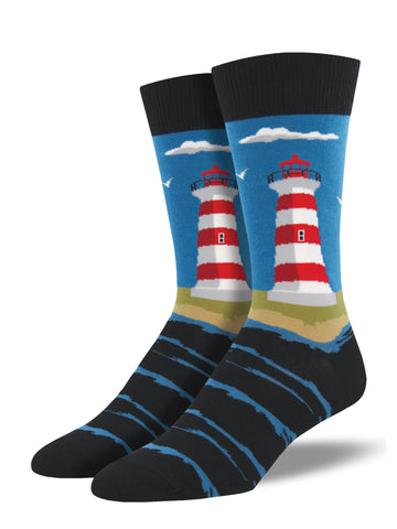 Lighthouse Socks Coastal Blue