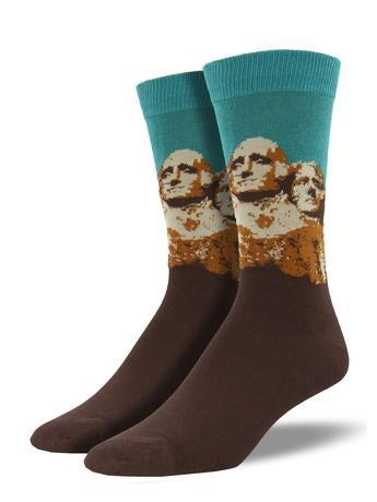 Mount Rushmore Bamboo Socks Aqua