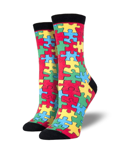 Puzzled Socks Black