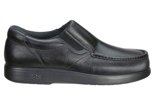 Side Gore Mocc Loafer Black