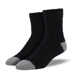 Slipper Socks w/Grip Black