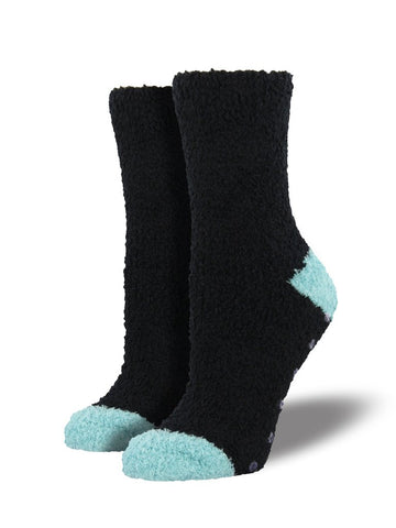 Slipper Sock w/Grip Black