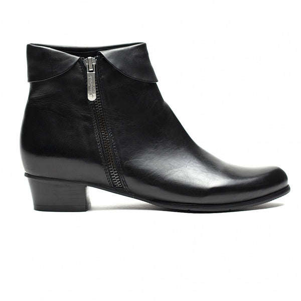 Stefany Lat Zip Boot Black