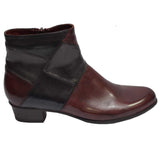 Stefany Patch Boot Wine