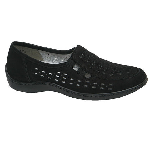Janna/Henni Perf Loafer Black