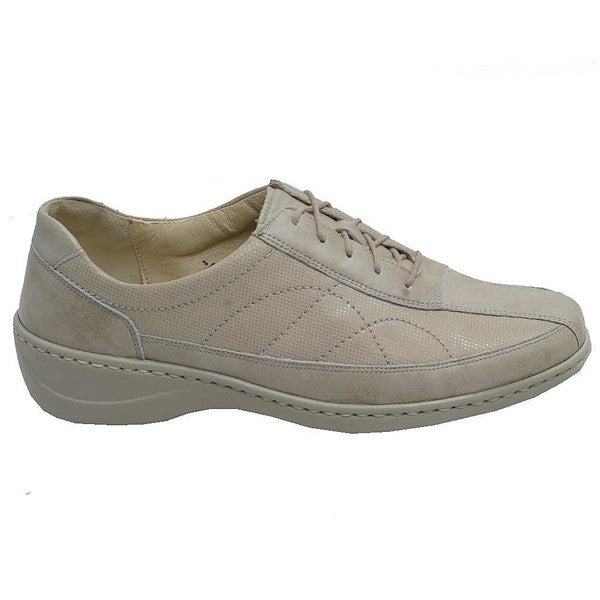 Kya Lace Up Beige Spot