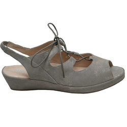 LARISSA-27-Pewter Multi Wedge Sandal
