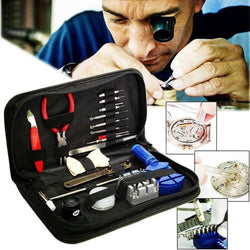 19 Pcs Watch Band Case Remover Opener Holder Wrench Screwdriver Repair Tool Kit