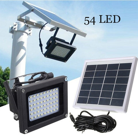 54 LED Human Body Induction Solar Wall Lamp Waterproof   Dusk-to-Dawn Sensor Lights Outdoor Garden Pathway Wall Security Light S
