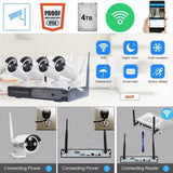 4 way home network camera security monitoring system  1080P/960P/720P wireless network hard disk VCR alarm closed circuit TV sec