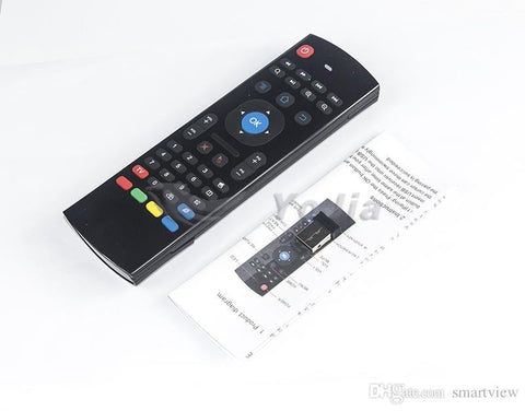X8 Air Fly Mouse MX3 2.4GHz  Remote Control  IR Learning 6 Axis without Mic for Android Box