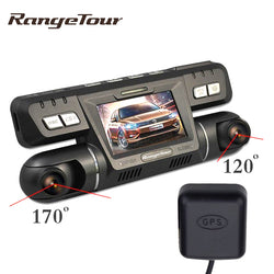 Range Tour with External GPS Logger Car DVR Camera Recorder B80 Novatek Dash Cam Full HD 1080P Dashboard 170+120 Degree Dashcam