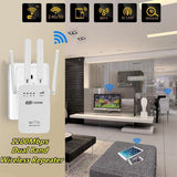 Wavlink WIFI Router 300/1200Mbps Dual-Band 2.4G/5G 4Antenna Extender Wireless WiFi Repeater Client Access Point Network Connect