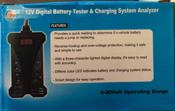 12volt Battery Charge tester and analyzer
