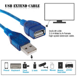 USB 2.0 Extension cable 3 Mtr
