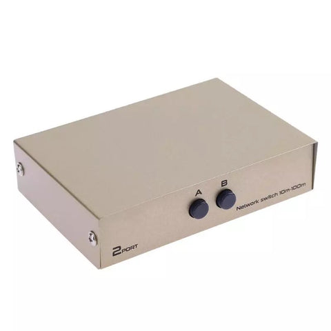 2 port RJ45 LAN Cat Network Switch Selector