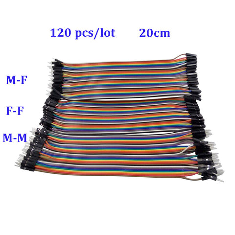 Raspberry Pi 3 Dupont Line 120pcs 20cm Male to Male +Male to Female +Female to Female 1p-1p Jumper Wire  For Orange Pi PC/Plus