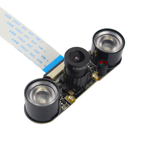 Raspberry Pi 3 Camera module 5MP OV5647 Night Vision Camera + 2pcs Sensitive infrared light compatible for Raspberry pi 2 camera