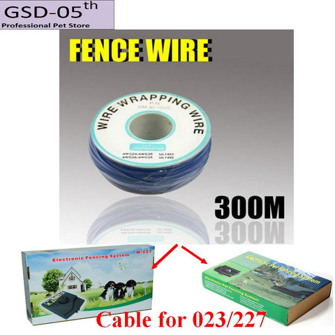 300M Wire Cable for Underground Electric Dog Pet Fencing System InGround Electric Dog Fence Shock Collar Dog Training Collar 023
