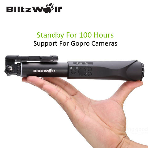 BlitzWolf Extendable Bluetooth Wire Wireless Selfie Sticks Monopod Universal For Samsung For iPhone 6 6S Plus For Smart Phone