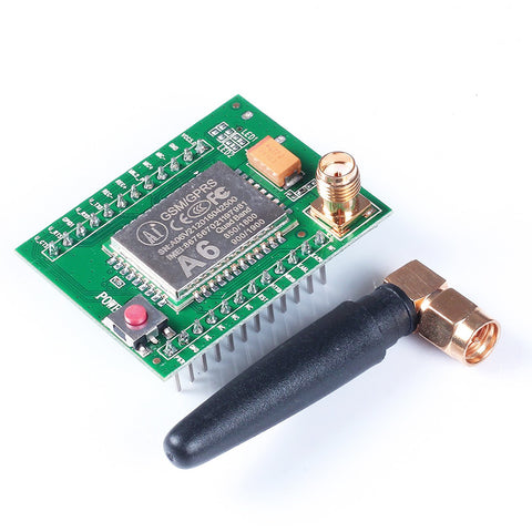 2017 A6 GSM GPRS Module Quad Band SMS Voice 850MHz 900MHz 1800MHz 1900MHZ with Antenna for Arduino wires for Arduino Raspberry
