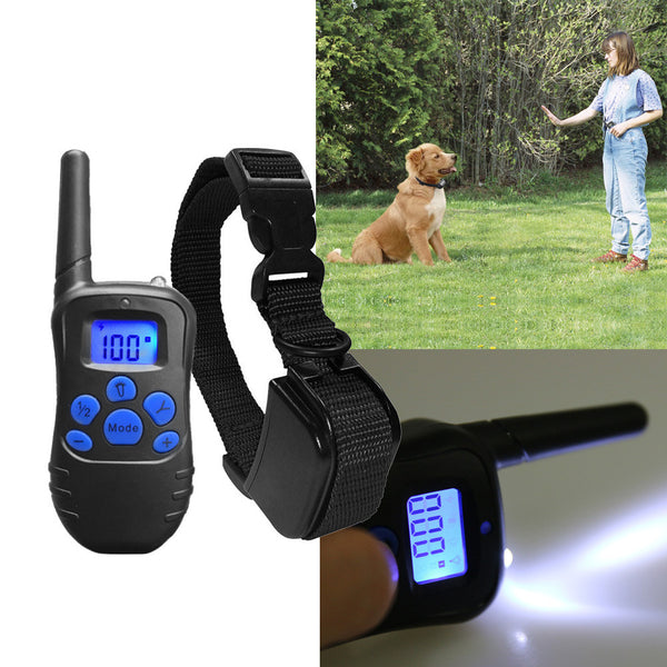 Dog Training Collar Rechargeable Rainproof 300mtr Remote Dog Shock Collar