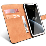 Case For iPhone X Phone Original TOMKAS Flip Wallet For iPhone X Case Coque PU Leather Cover For iPhone X With Card Holders