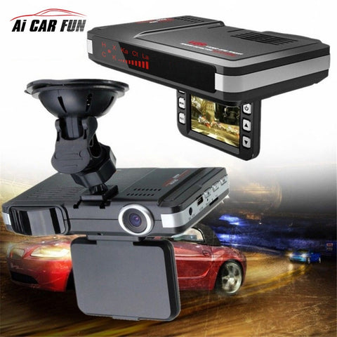 Car Dvr camera Anti radar detector 2 in 1 speedcam Dash cam car camera car-detector video recorder camcorder