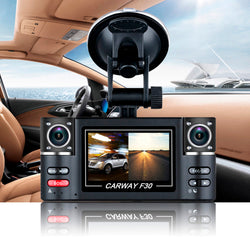 "Carway F30 Car DVR 2.7"" TFT LCD HD 1080P Rotated Dual Lens Dash Camera"