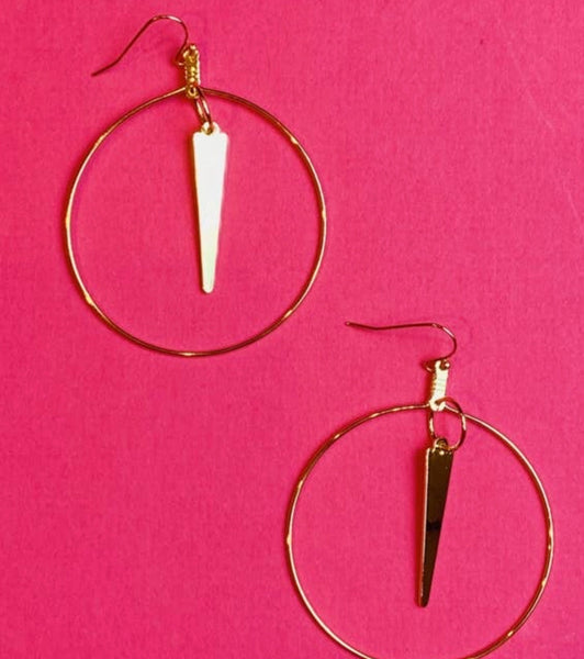 Spiked and Sassy Hoops