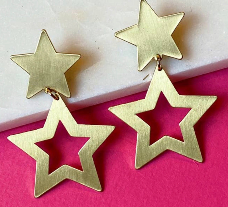 Lucky Stars Tiered Earrings