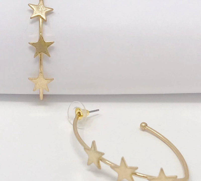 Orion's Belt Hoop Earrings