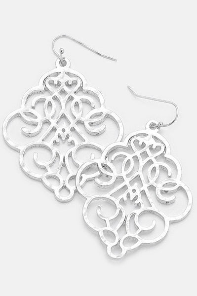 Engraved Medallion Earrings