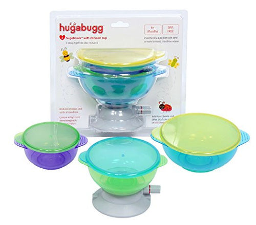 Hugabowls with Vacuum Cup Feeding System with 3 Bowls