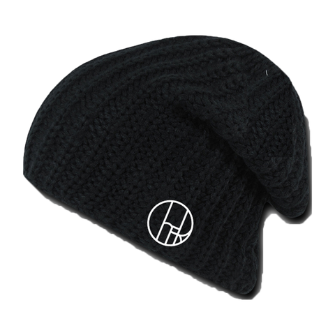 Circle Cher Black Beanie