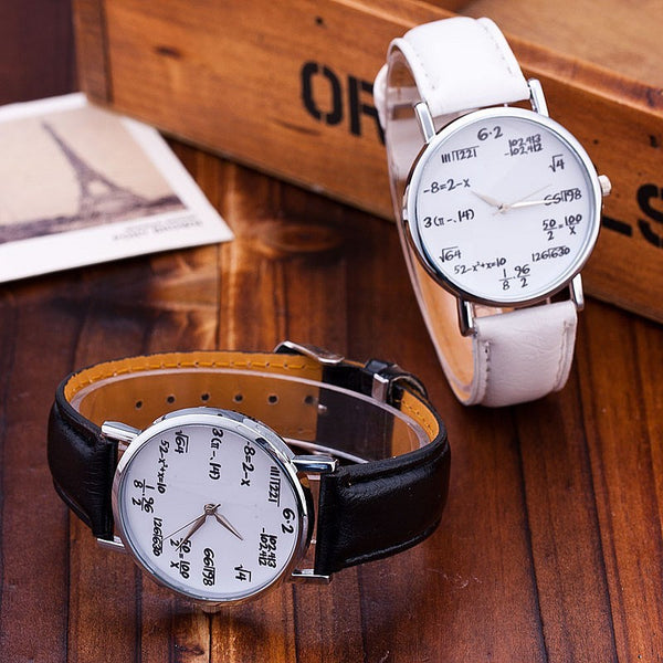 Mathematician Classic Leather Wrist Watch - HappySatchels