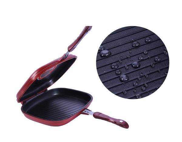 HappySatchels™ Double Sided Nonstick Grill Pan
