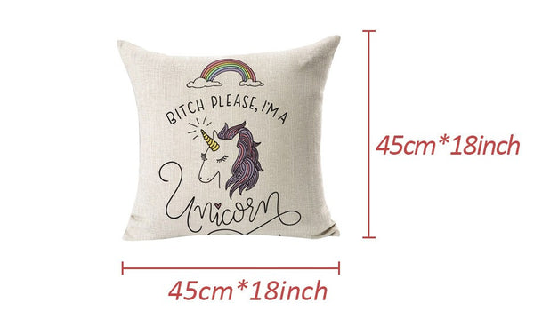 Magical Unicorn Jazz Sofa Cushion Cover - HappySatchels