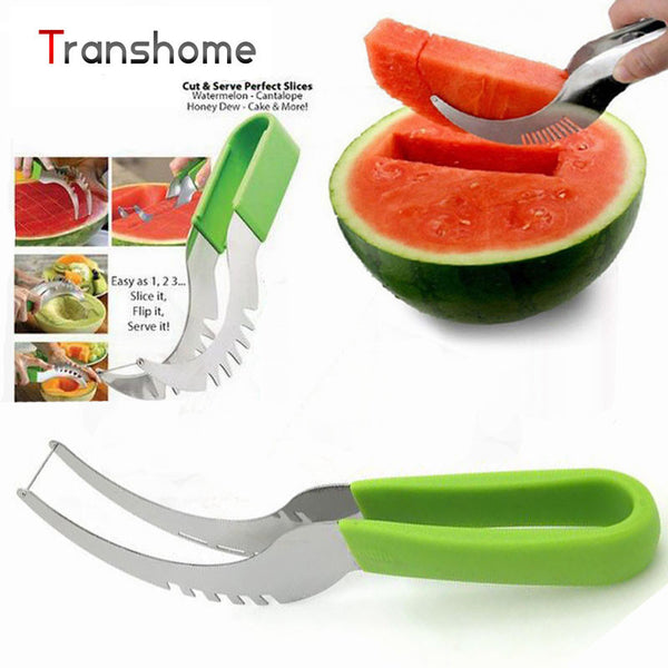 2-in-1 Stainless Steel Watermelon Cut-N-Serve - HappySatchels